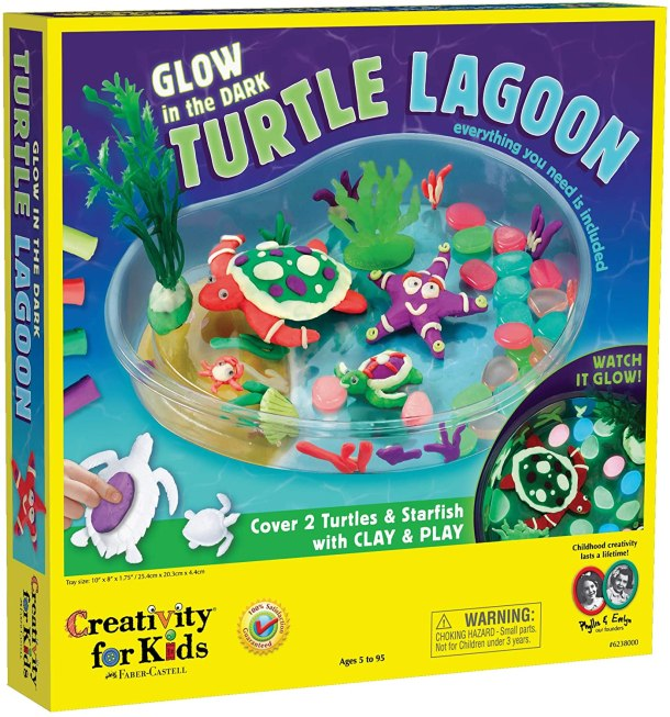 Clay turtle lagoon kit for kids AD