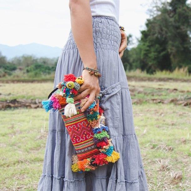 Handmade boho clutch purse #ad