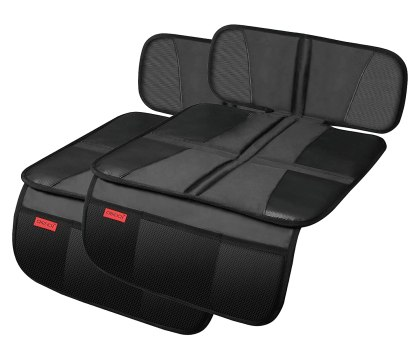 Car seat protectors - easy to install #ad