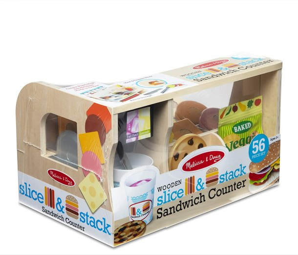 Melissa and Doug Slice and Stack Sandwich Counter Toy
