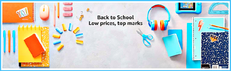 Back to school time at Amazon
