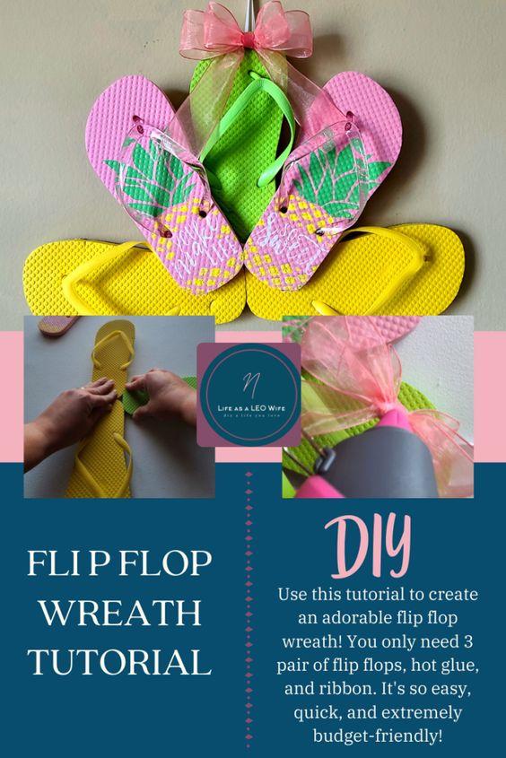 Flip flop wreath tutorial