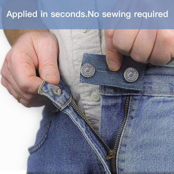 Waist extenders for guys and gals - adds a little room to the waistband of your pants or jeans