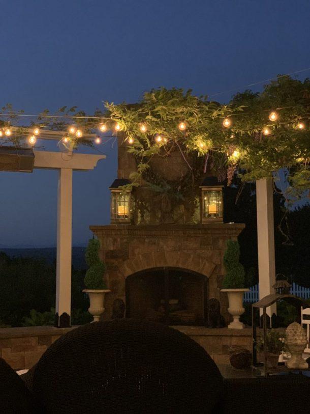 summer night on the patio