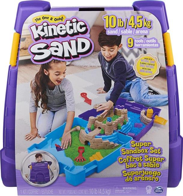 Kinetic sand super sandbox for kids