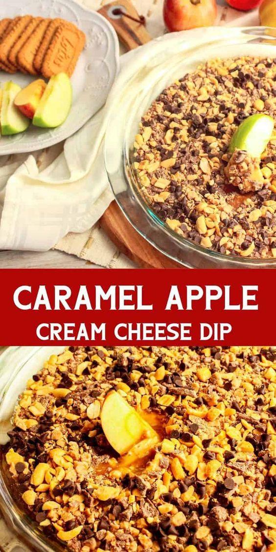 carmel apple cream cheese dip recipe