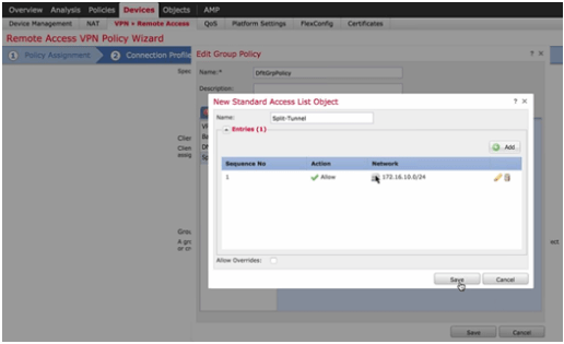 Setting up Remote Access VPN for Firepower Threat Defense – duConet