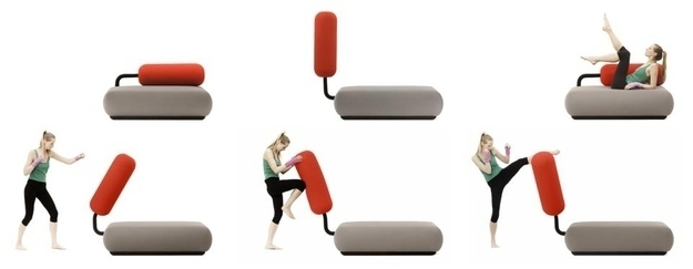 couch that becomes a punching bag, cool furniture for guys