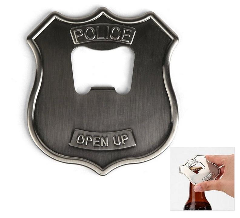 Police Badge Beer Bottle Opener