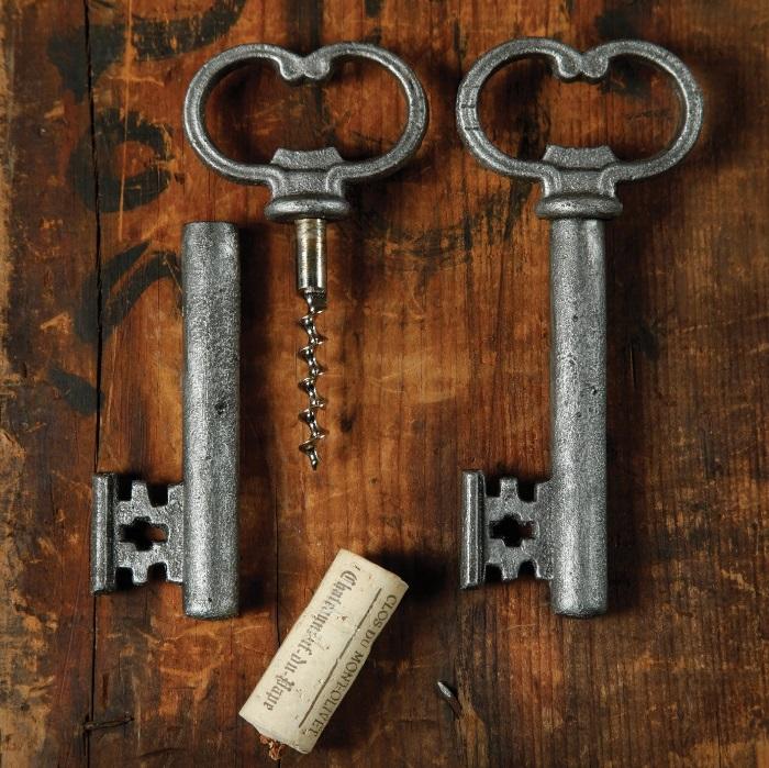 skelleton key beer bottle opener and cork screw