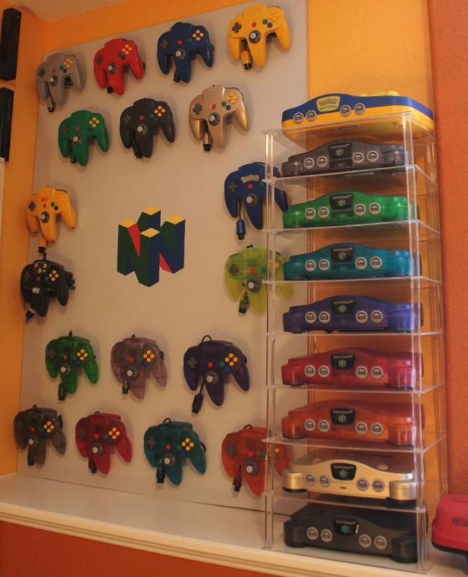 video game controller display