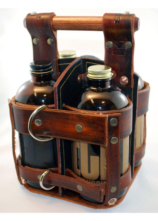 leather beer holder
