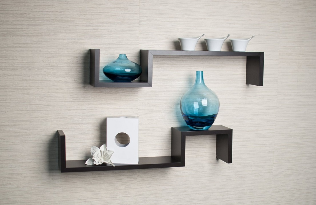 shelf ideas for the modern man cave  dudeliving - simple modern wall mounted shelves