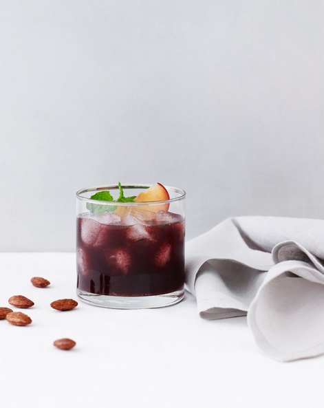 BLACKBERRY SMASH whiskey drink