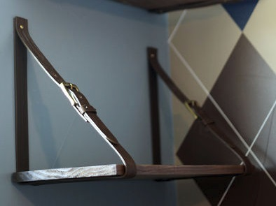 leather belt shelf