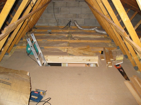The Beams As They Are Make It Hard To Do Much So Olivier Reconstructed The  Beams To Make More Space. Attic Man Cave