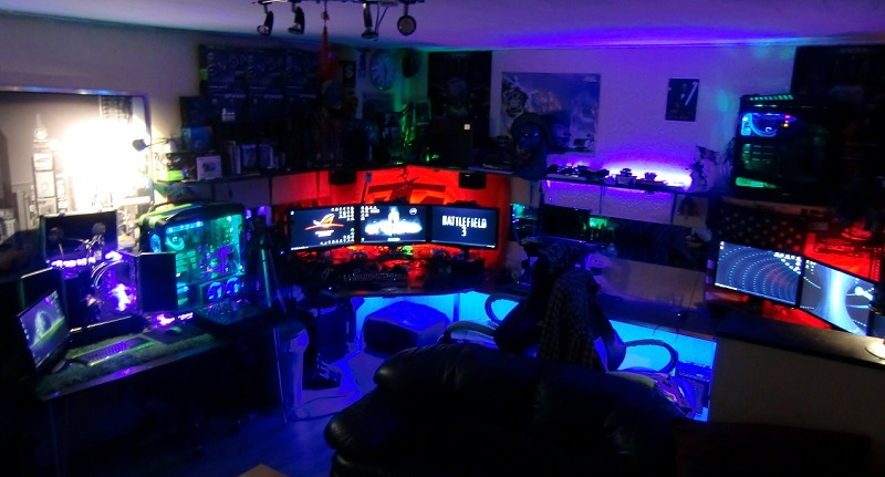 multimedia man cave
