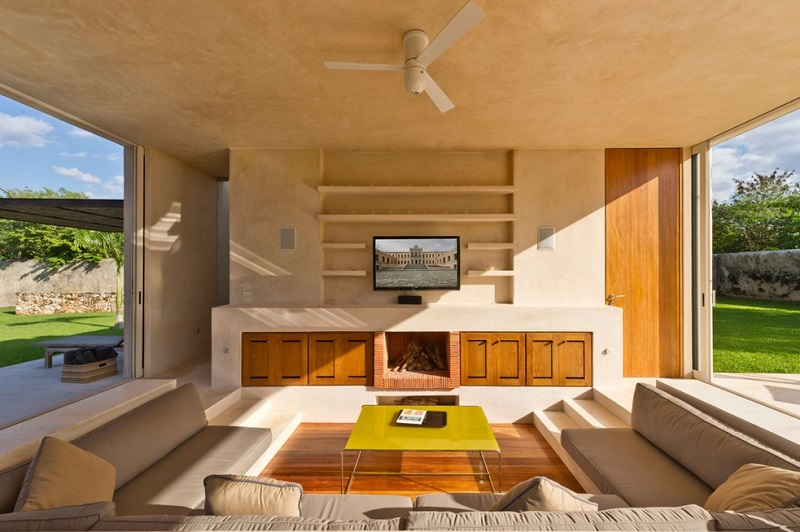 built in couch man cave
