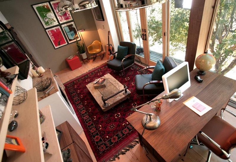 office man cave setup