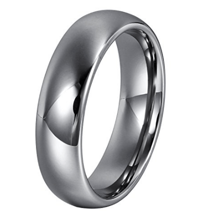 silver wedding ring for men 6mm