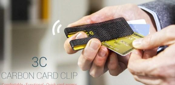 Carbon Fiber Credit Card Clip Wallet