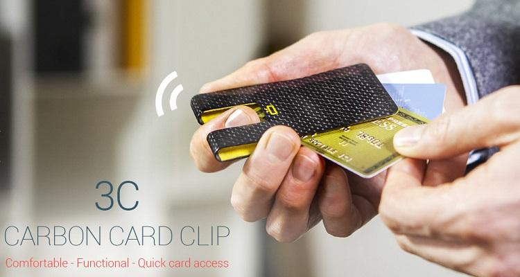 carbon card clip