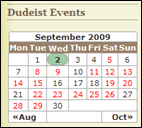 sidebar calendar