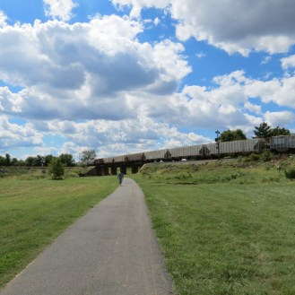 Clouds Over the Anacostia Trail in Edmonston, Maryland