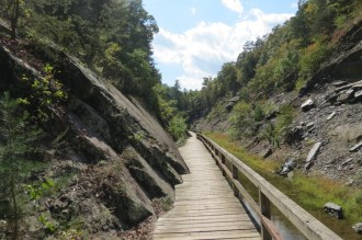 Footbridge leading to the Paw-Paw Tunnel