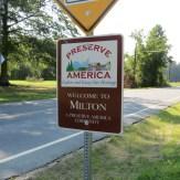 Milton, Delaware Sign