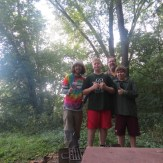 Aspiring naturalists and boy scouts with their dad on the C&O Canal