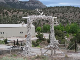 Antler Arch outside Ely, Nevada