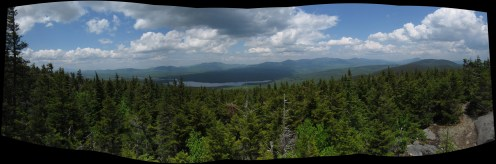 Barren Mountain in the 100-Mile Wilderness in Maine Panorama
