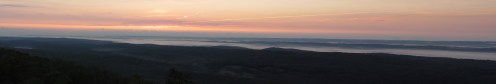 Sunrise from Catfish Fire Tower Outside Delaware Water Gap, New Jersey Panorama
