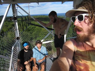 The Homies at High Point State Park Fire Tower in New Jersey