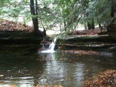 Waterfall in Hocking Hills