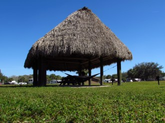 Hammocking in a Chickee in Seminole Campground and RV Park