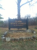 Clark State Forest Sign
