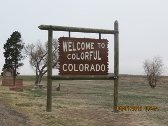 Welcome to Colorado Sign on Route 40