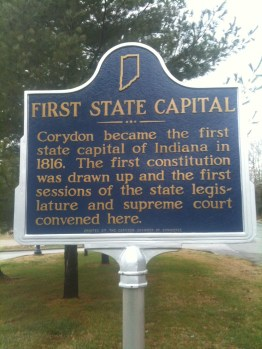 Corydon First State Capital Sign
