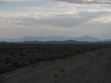 Distant Desert Mountains