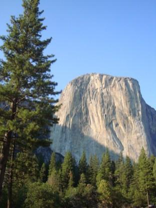 El Capitan from Yosemite Valley in Yosemite National Park, California