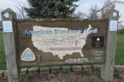 American Discovery Trail Sign in Elizabethtown, Ohio