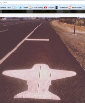 Airplane Road Marker in Fallon, Nevada