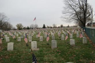 Graveyard Flags in Chillicothe, Ohio