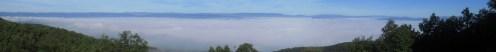 Harvey's Knob Overlook on the Blue Ridge Parkway in Virginia Panorama