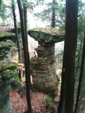 Sandstone Formation in the Hocking Hills Rappelling Area