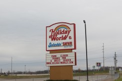 Holiday World Sign in Santa Claus, Indiana
