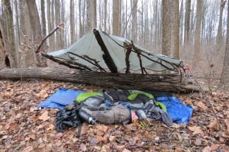 Make-Shift Shelter Outside Evansville, Indiana