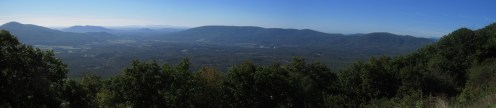 Montvale Overlook on the Blue Ridge Parkway in Virginia Panorama